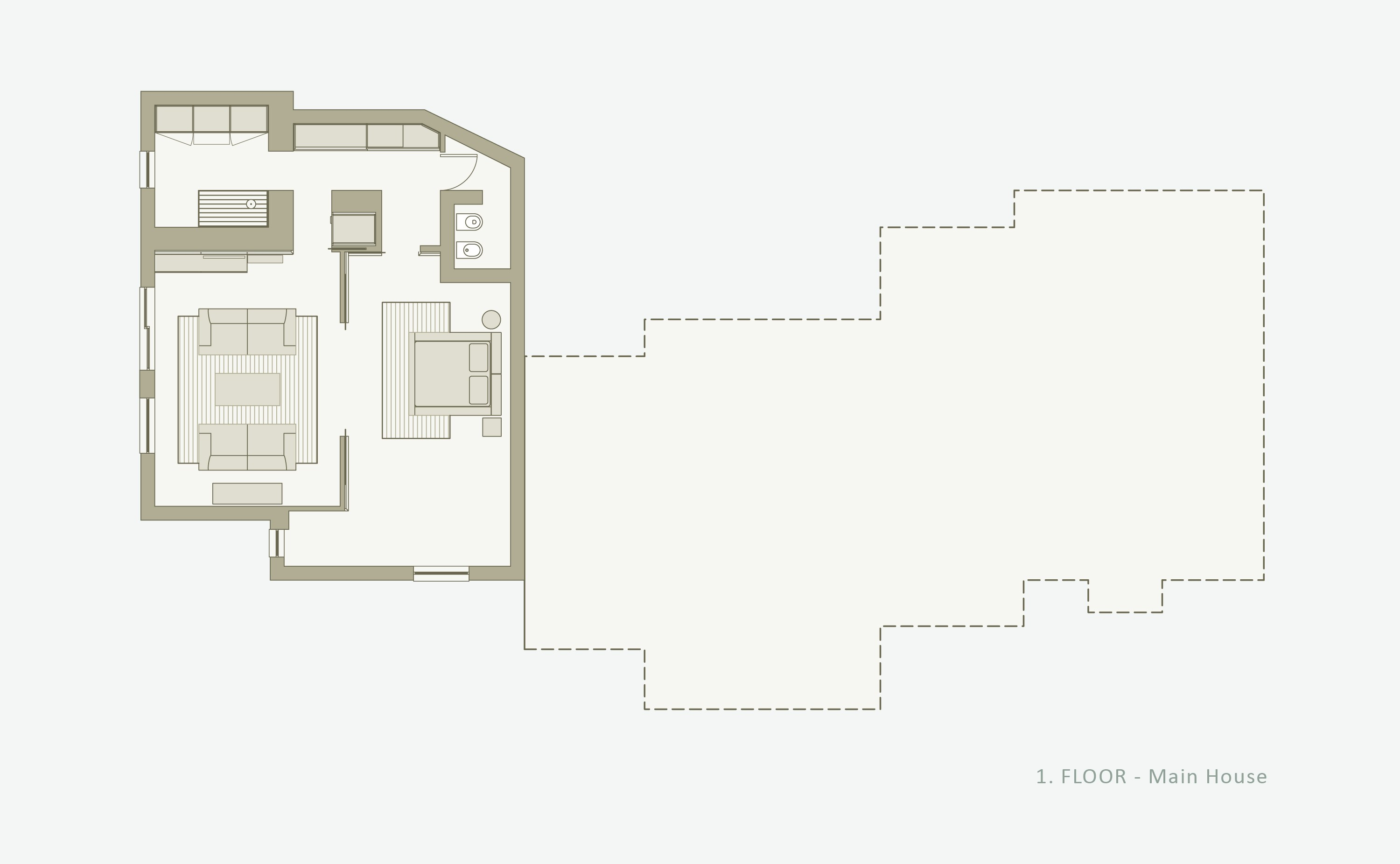 Floorplans villa cassedda costa smeralda sardegna for Main level floor plans